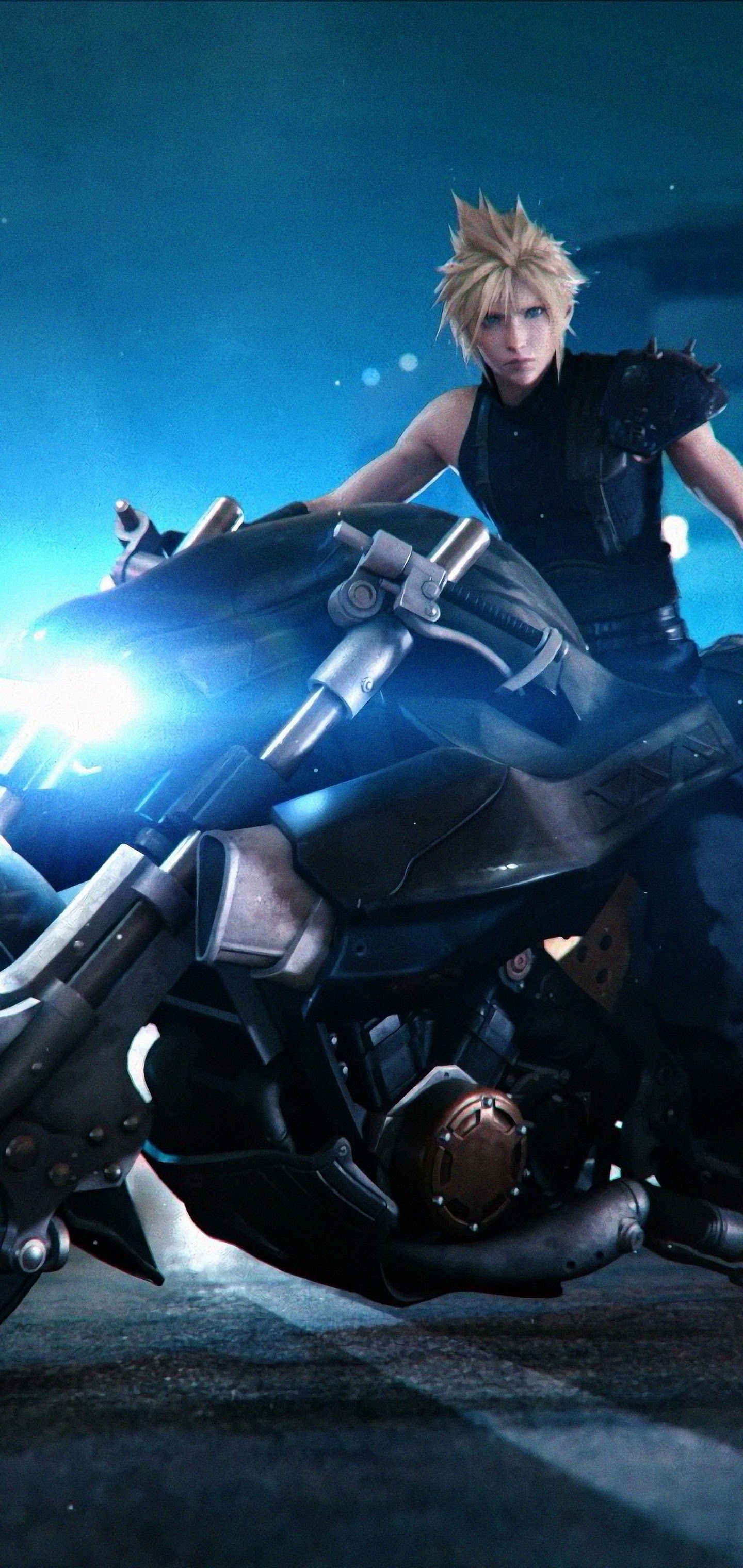 Cloud Strife Motorcycle Final Fantasy 7 Remake 4k Wallpaper 28
