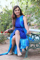Tamil Actress Sanchita Shetty Latest Pos in Blue Dress at Yenda Thalaiyila Yenna Vekkala Audio Launch  0019.jpg