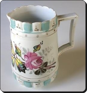 China-pitcher-with flower painting