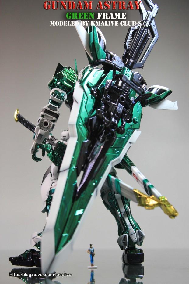 Custom Build Mg 1 100 Gundam Astray Quot Green Frame