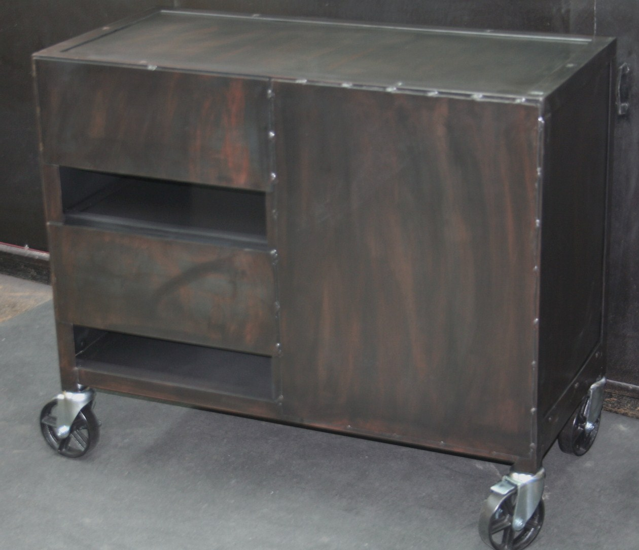Media Furniture Cabinets: Real Industrial Edge Furniture Llc: Small Industrial Media