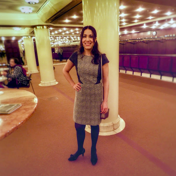 Outfit: Monochrome Tweed Dress