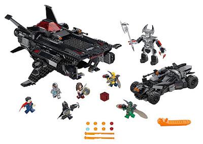 LEGO DC Comics Super Heroes : Liga de la Justicia - 76087 Flying Fox: ataque aéreo del Batmobile | 2017 | PELICULA | CONTENIDO JUGUETE