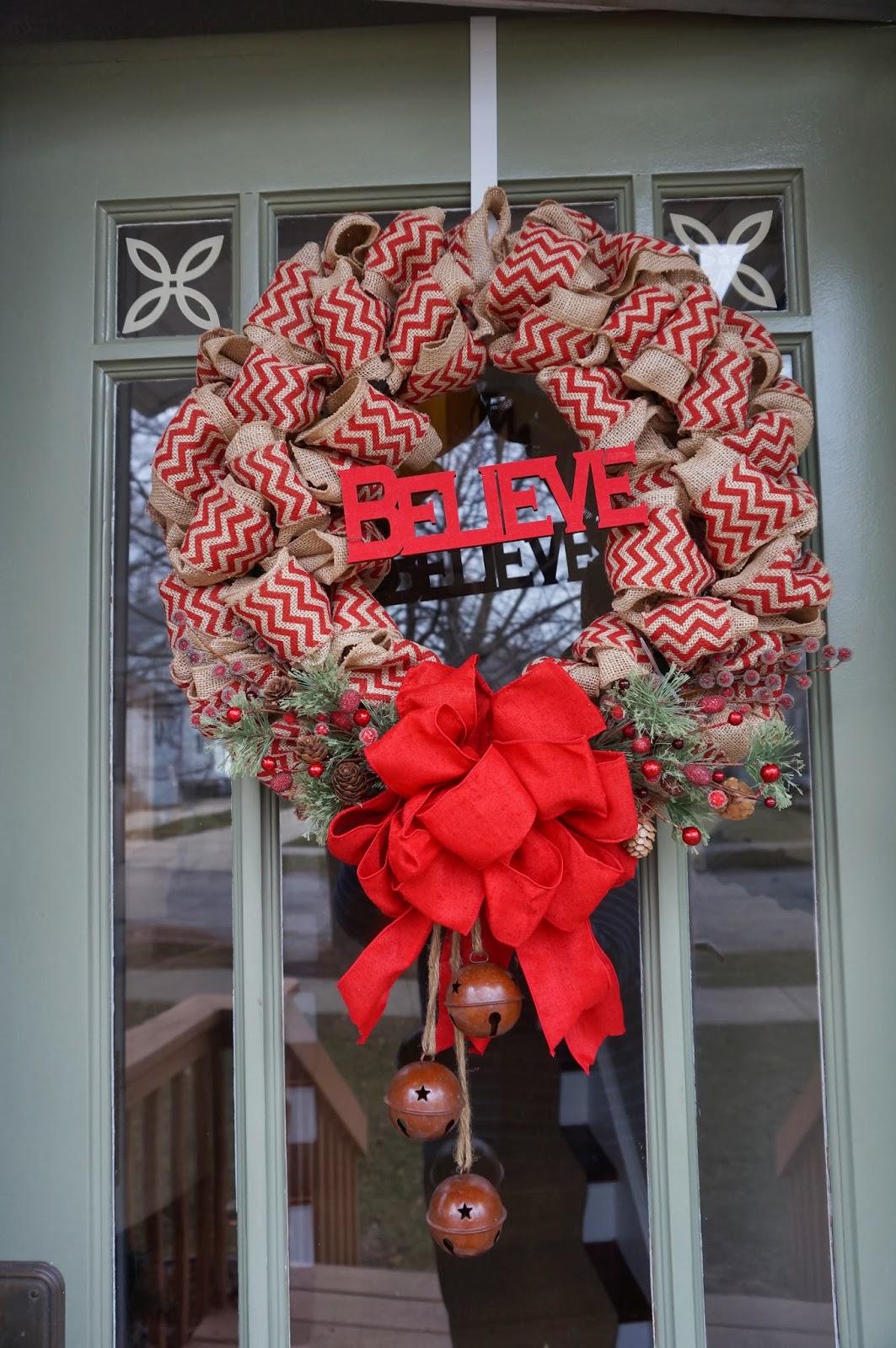 A Card A Day...: A Burlap Christmas (wreath)