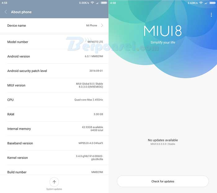 Cara Upgrade MIUI 8.2 Global Stable Xiaomi Terbaru