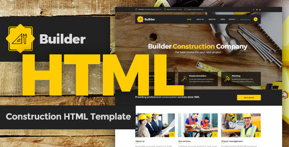 Download Builder - SImple Construction HTML Template