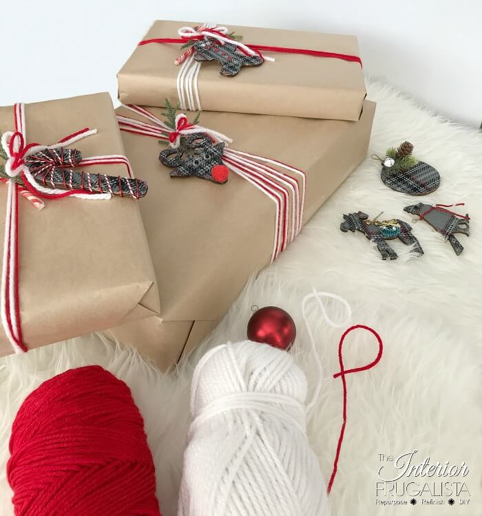 Eco Friendly Holiday Gift Wrap Yarn Ribbon