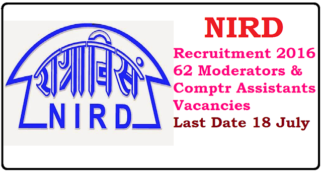 NIRD Recruitment 2016 – 62 Moderators & Computer Assistants Vacancies – Last Date 18 July/2016/06/nird-recruitment-2016-62-moderators-computer-assistants-vacancies.html