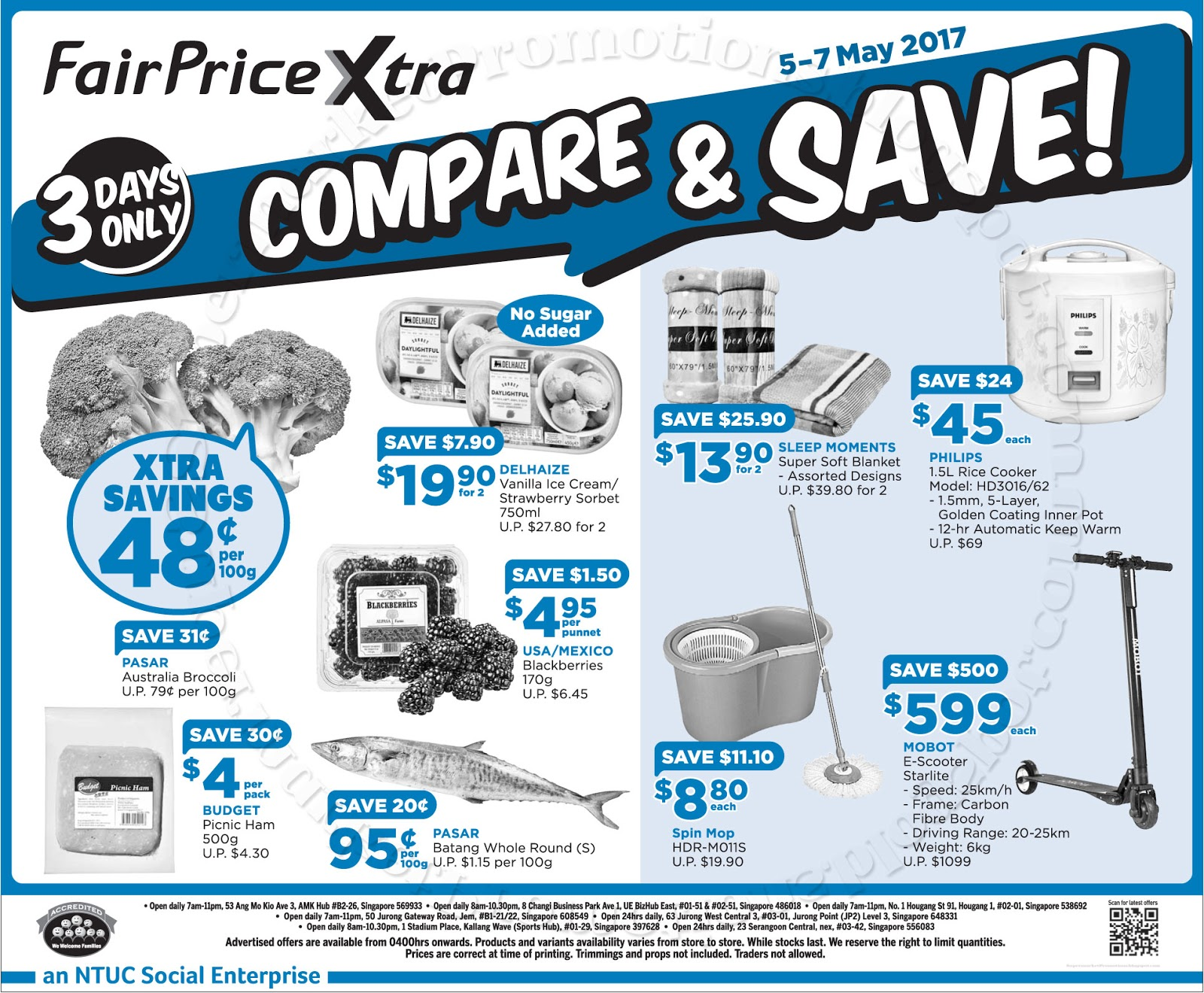 NTUC FairPrice Xtra Compare & Save! 05 - 07 May 2017 ...