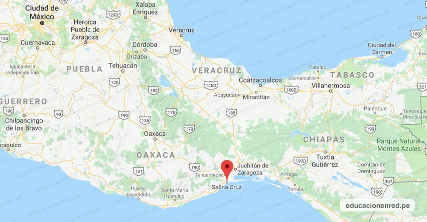 Temblor en México de Magnitud 4.2 (Hoy Sábado 25 Enero 2020) Sismo - Epicentro - Salina Cruz - Oaxaca - OAX. - SSN - www.ssn.unam.mx