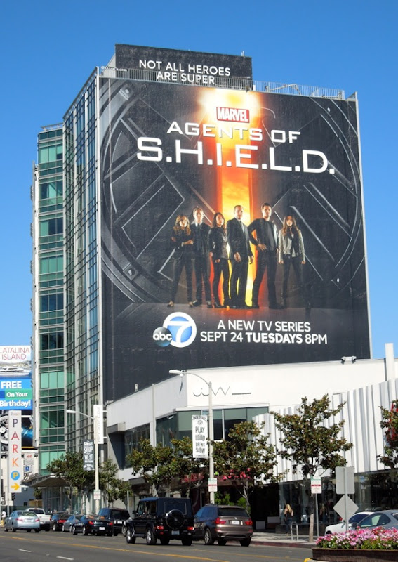 Giant Agents of SHIELD season 1 billboard