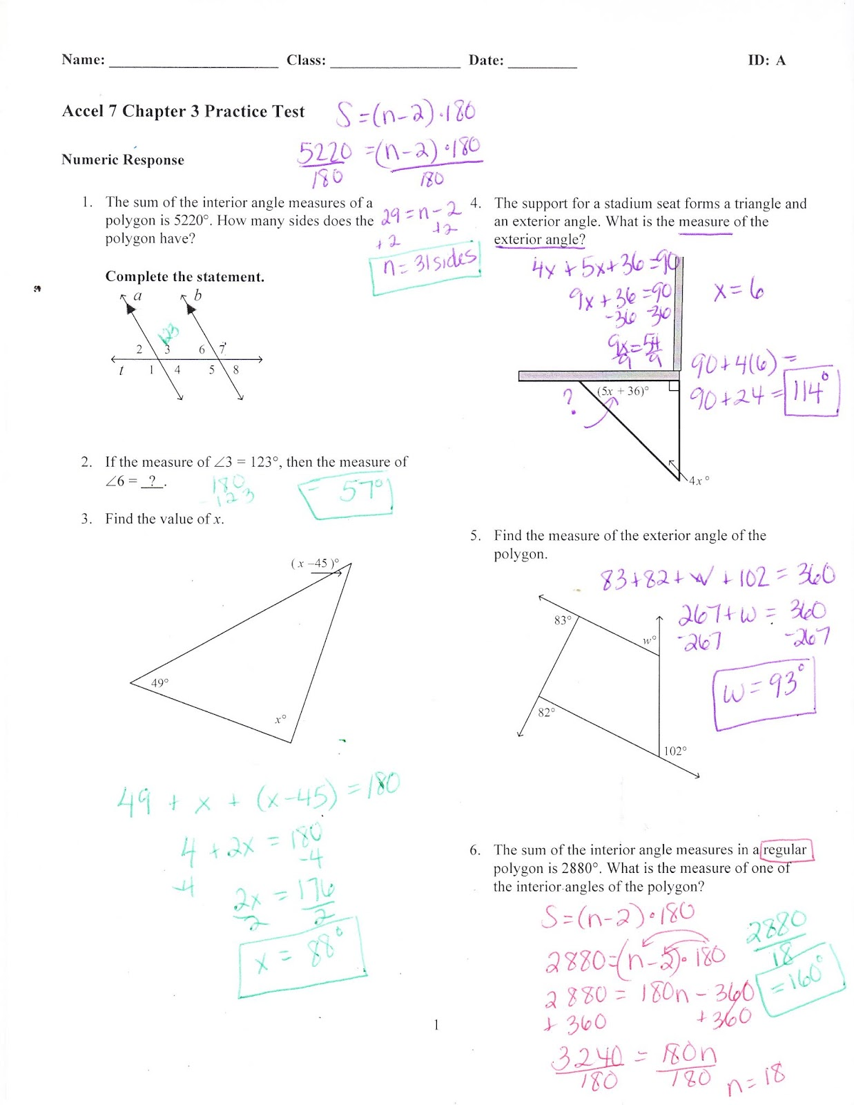 Ms. Jean's ACCEL 7 Blog: Chapter 3 Practice Test Answers