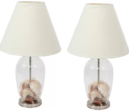 Set of 2 Fillable Glass Table Lamps