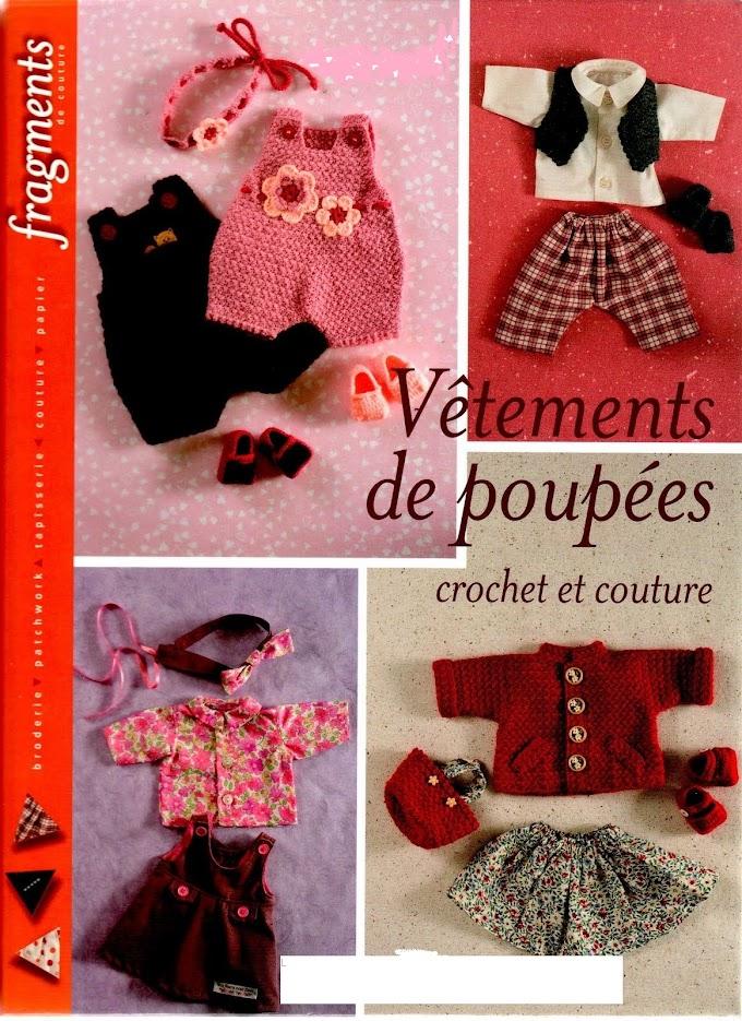 Roupas de Bonecas Crochê E Costura