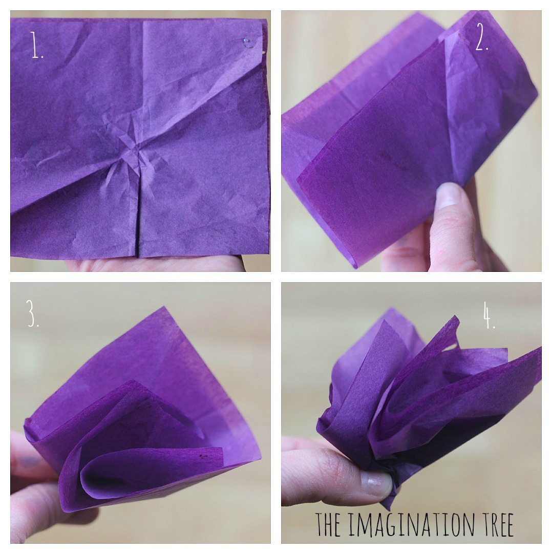 Diy Tissue Paper Flower Garland Nurufunicaasl