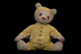 OOAK artist teddy bear dressed in sporty outfit