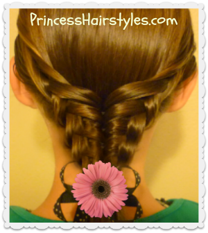 Easy Hairstyle Tutorial, Waffle Cone Ponytail