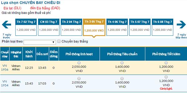 Vé máy bay Đà Lạt đi Đà Nẵng