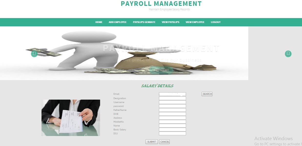 PAYROLL MANAGEMENT SYSTEM ASP  NET PROJECT WITH SOURCE CODE