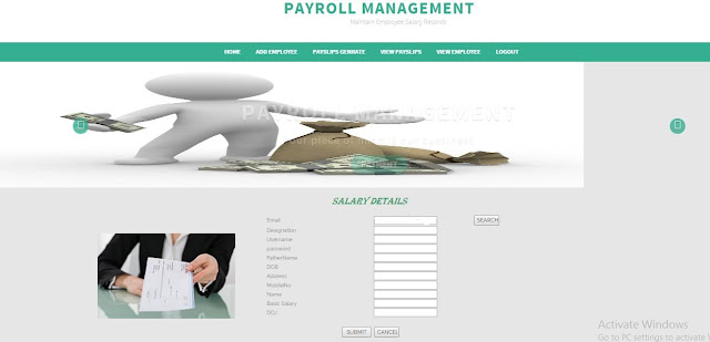 PAYROLL MANAGEMENT SYSTEM ASP .NET PROJECT WITH SOURCE CODE