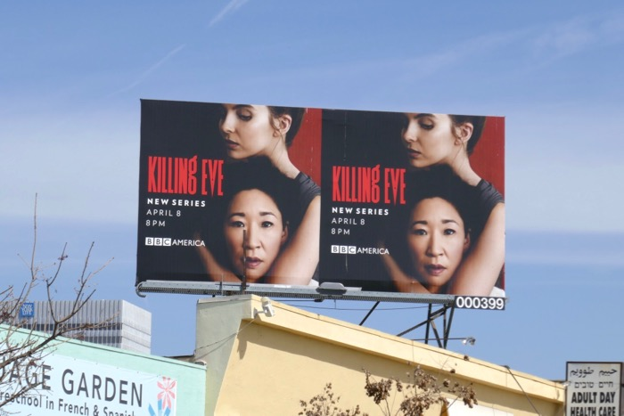 Killing Eve series launch billboard