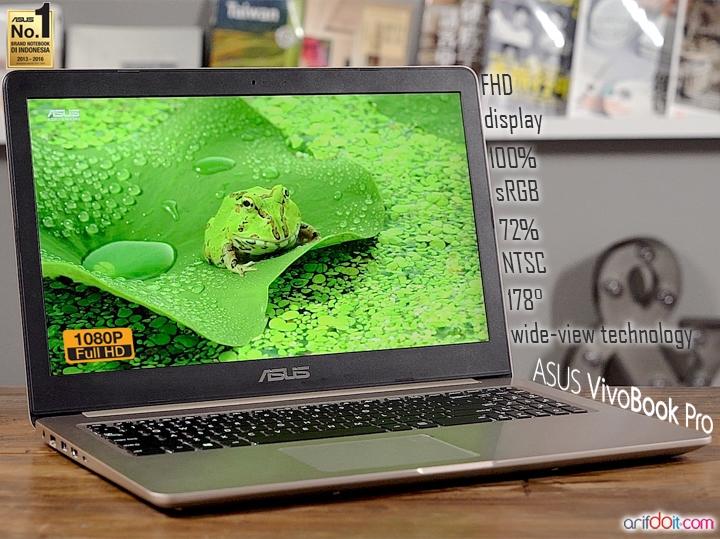 Asus VivoBook Pro Terbaik di Kelas Notebook Multimedia