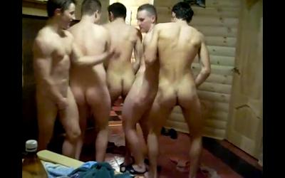 nude group sauna