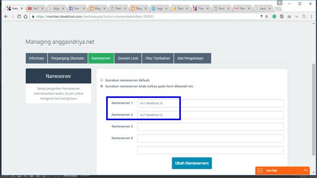 Cara Mengganti Nama Domain Blogger Tanpa Blogspot