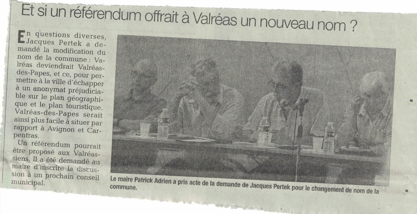 Le journal libre de l 39 enclave - Le journal le vaucluse ...