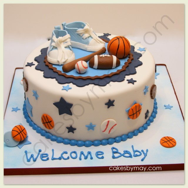 Cakes by Maylene: Sports Baby Shower Cake