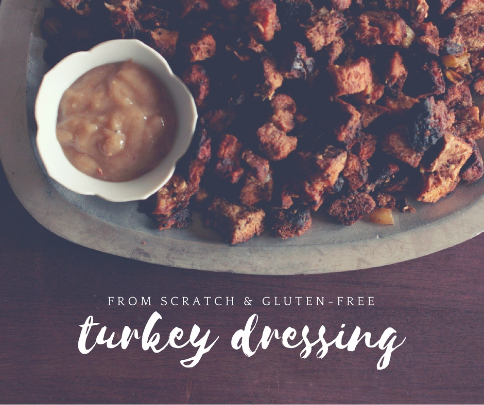 gluten-free Thanksgiving turkey sage dressing recipe-from scratch