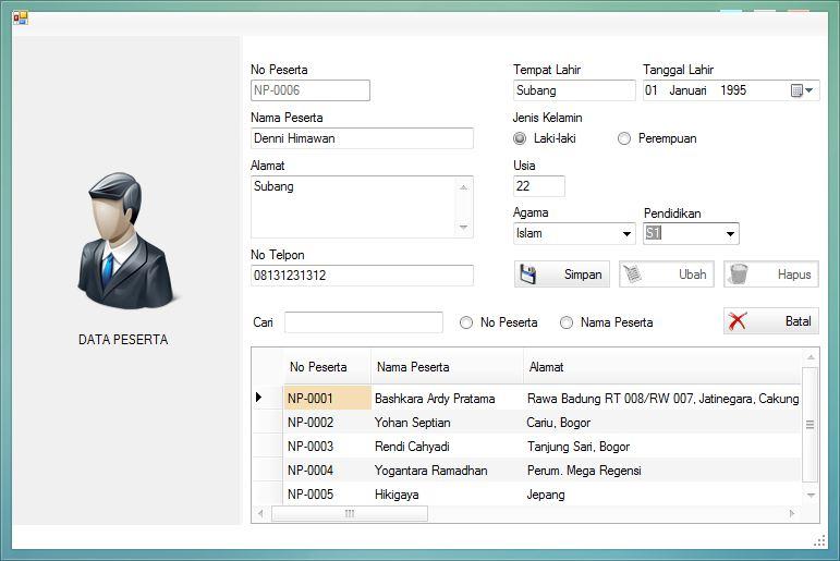 Source Code Aplikasi Penerimaan Karyawan Sederhana VB .NET