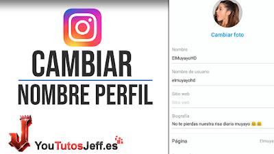 como cambiar nombre instagram