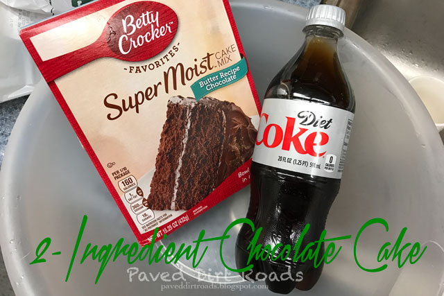2-Ingredient Diet Chocolate Cake