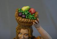 pastorella fruttivendola statuetta personalizzata natale orme magiche