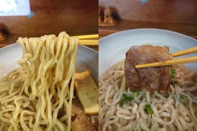 自家製生麺と軟骨ソーキの写真