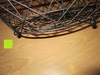 Füße: khevga Obstschale Landhaus aus Metall