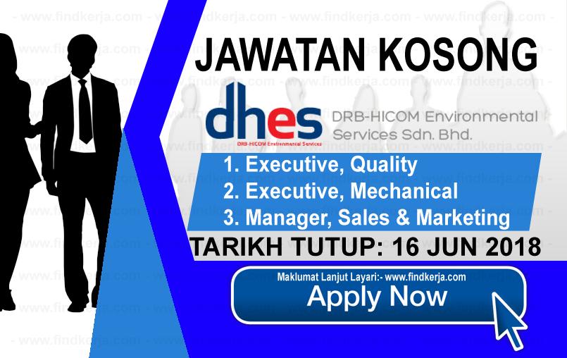 Jawatan Kerja Kosong DRB-HICOM Environmental Services logo www.findkerja.com www.ohjob.info jun 2018