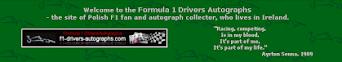 Formula 1 Drivers Autographs (Rafal)