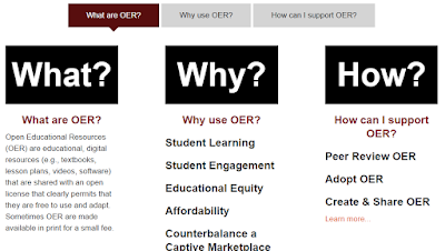 screenshot of the OER Guide for faculty