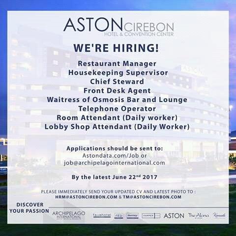 Info Loker : Aston Cirebon Hotel