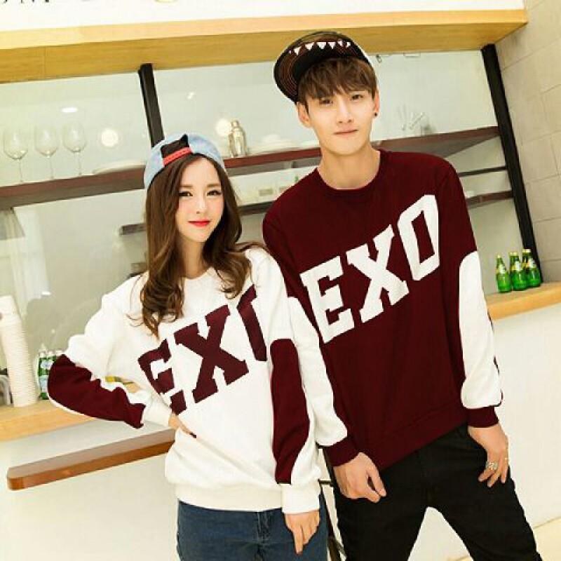 Jual Couple Lengan Panjang LP Exo Combi Red - 24306