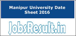 Manipur University Date Sheet 2016