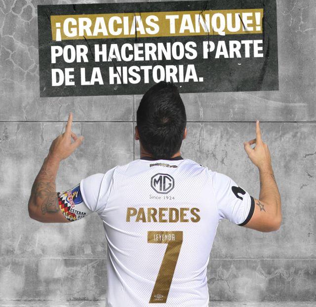 Lanzan camiseta por récord de Esteban Paredes