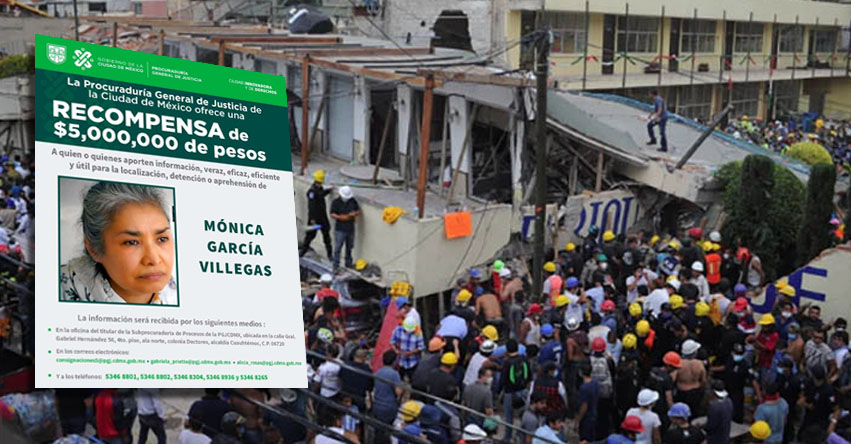 MÓNICA GARCÍA VILLEGAS: Justicia de México detiene a ex directora del Colegio Rébsamen que se derrumbó tras poderoso sismo del 2017