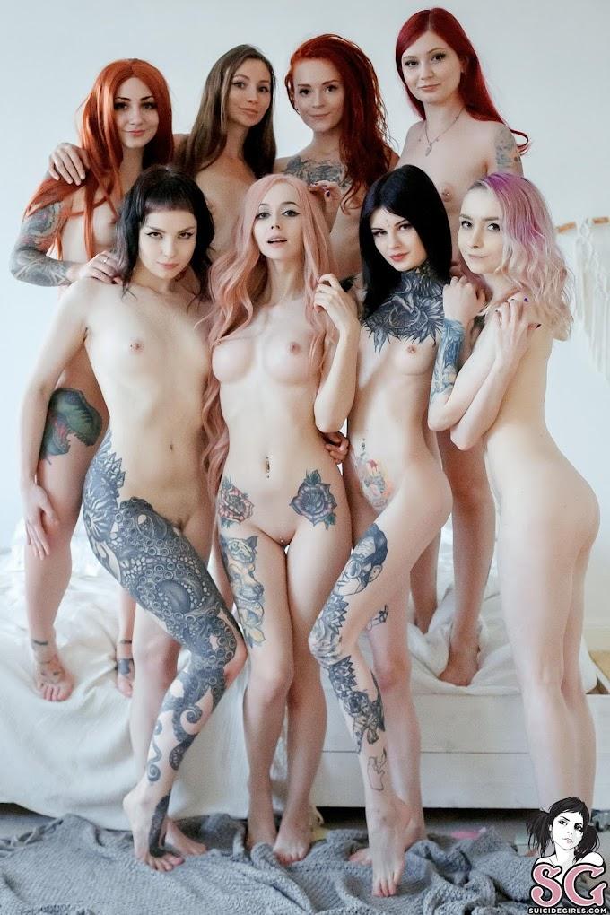 Frosty + Glameow + Kaleria + Karanlit + Lure + Maryberry + Ultramarie + Zirael - Naked game
