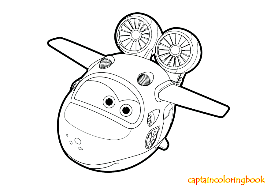 Super Wings coloring pages free Coloring Page