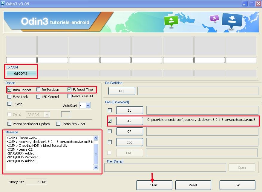 ODIN : placer le fichier du ROOT pour GT-I9195