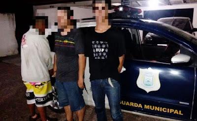Trio acusado de tocar o terror no centro de São José dos Pinhais (PR) são detidos pela Guarda Municipal