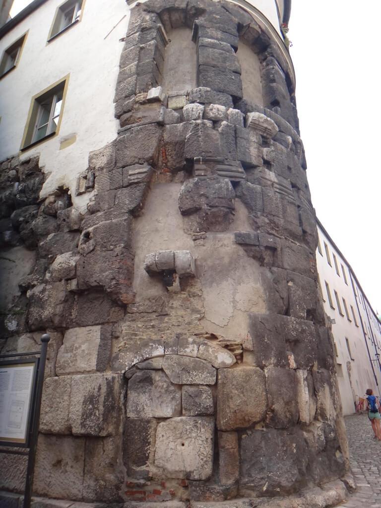 Porta Praetoria em Regensburg, Alemanha